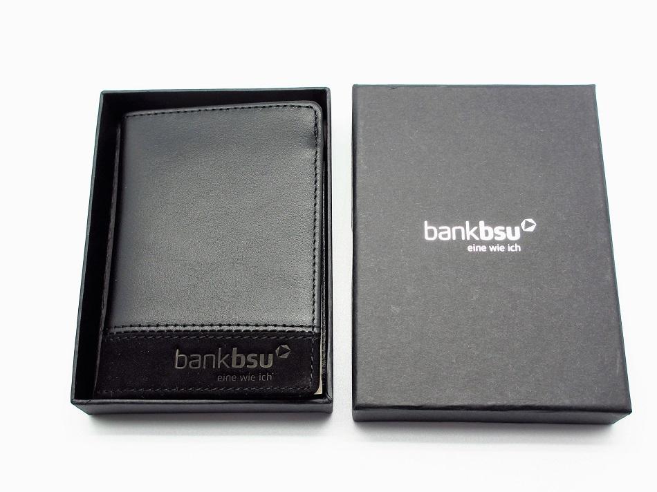 Kleines Leder Portemonnaie mit Geschenkverpackung